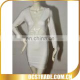 2014 hot sell quality white expose chest bandage dress