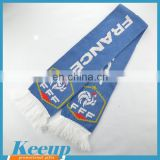 2016 Hot Sale China Wholesales Custom Logo Knitted Fan Scarfs For Promotional Gift
