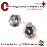 Custom 12sides chinese metal engrave dice manufacturers