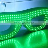 hot sale new products double sided flashing neon glasses light sign/heads up display glasses