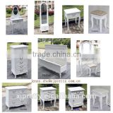 white bedroom furniture dressing table set/chest/mirror stand/bedside/lamp table
