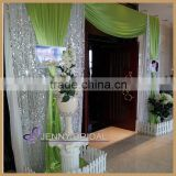 BCK089 wholesale high quality customize size shiny silver sequin event party backdrop for weeding decoration                                                                         Quality Choice