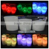 Flameless Color Changing Candles 3 candles that mimics a real candles with Remote Control & Timer Made With Real Wax