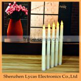 11 Inch Ivory Flameless Battery Operated Taper Candle