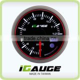 52mm 3 colors LED display auto gauge with warning and peak recall function Electrical EGT Exhaust Gas Temp Gauge
