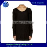 Mens New Design Soft Cotton Black Sexy Long Sleeve Tshirt