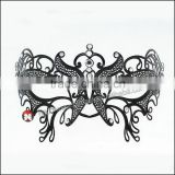Luxury Elegant Silver Metal Laser Cut Beatles Mask with Rhinestones Crystal
