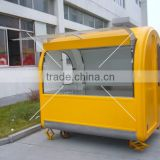 Stainless steel mobile coffee truck vending ice cream kiosk/catering kiosk cart for sale
