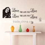 Wholesale Bob Marley Quotes Vinyl Wall Decals Poster Wall Art Wallpaper Wall Stickers Home Decoration