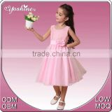 Super Elegant Design Dress Pink Tulle Children Costume Kids Party Dresses for Little Girl Dress