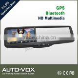1080P bluetooth LCD car GPS mirror with DVR kits