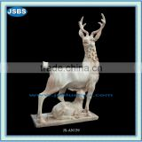 Life-size marble David's deer statue