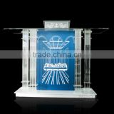 factory wholesale glass lectern stand clear acrylic podium