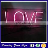 Hot sale love alphabet letter waterproof used outdoor lighted signs