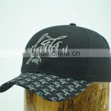 3D embroidery logo and printed bill popular cotton baseball hat