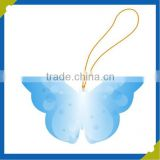 cheap recycle copy paper colorful print butterfly main/neck hang tags for kids garments