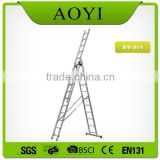 china supplier aluminium self supporting extension ladder