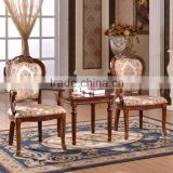European classical wood tea room chairs Chinese tea table and chairs set