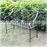 Garden furniture cast iron brown patio bench for decorations