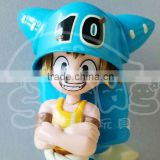 Plastic Blue Colored Figure Decoration Toys,Blue Figure Figurine