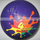 5 inch 8.5 inch Purple soft rubber kickball