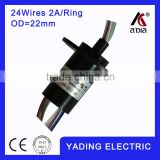 Capsule slip ring SRC22-24 dia 22mm 24wires 2A/Per wires, slip ring 24 for sale