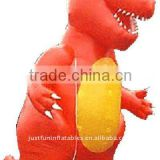 inflatable huge red dinosaur