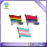 Rainbow Gay pride flag soft enamel metal lapel pin Badge