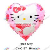 2016 New Arrival Hello Kitty Balloons Helium Foil Balloon