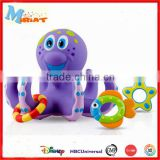 Soft vinyl small cartoon baby octopus bath toy