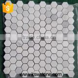 China white carrara white marble mosaic tile hexagon mosaic