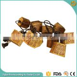 Wood Carved Decoration String Holiday Time Lights                                                                         Quality Choice