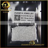 white synthetic gemstone machine cut 1.7mm round brilliant cut small size cubic zirconia