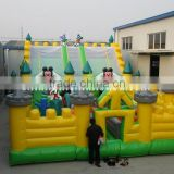 giant outdoor playground / Mickey mouse inflatable jumping castle for kids
