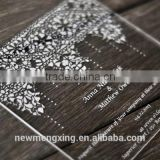 Wholesale clear exquisite acrylic laser cut wedding invitation cards