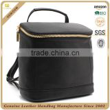 CSS1663-001 Good quality cow leather high school backpack bag Black traveling zipper bag Alibaba china multi-purpose backpack