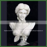 Carved Marble Female Bust Statue