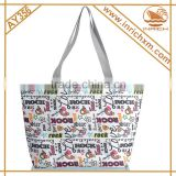 wholesale cheap custom reusable foldable women fashion tote cotton gift shopping bag with logo