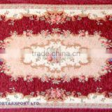 2012 flower knotted artificial polyester carpets