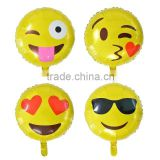 2016 Whosale Inflatable Advertising Printed Emoji Foil Balloon For Party