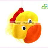 Custom wholesale body rubbing animal shaped baby bath sponge loofah mesh puff shower sponge