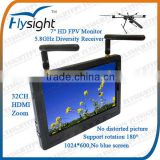B72 Battery Operated Diversity Rx With HD Screen Monitor 7-28V For Skywalker Quadcopter FPV
