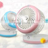 Portable handheld mini fan office air diffuser mist maker spray rechargeable cooling fan for home