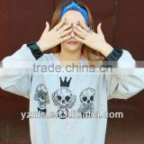 Newest fashion design korean style women wear printing long sleeves cute brand girls t shirt