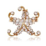 China supplier cheap wholesale zinc alloy magnetic artificial flower brooch for wedding dress