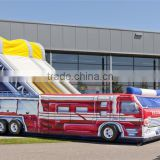 2015 Newest and giant inflatable fire truck slide for sale