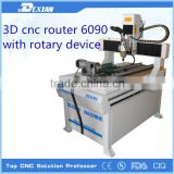 6090 mini cnc milling machine/4 axis cnc router /mini cnc router