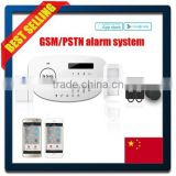 Free Android and iOS APP LCD display Touch keypad RFID tags gsm security wireless smart security alarm system