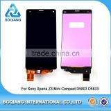 LCD touch screen digitizer assembly replacment For Sony Xperia Z3 Mini Compact D5803 D5833