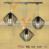 Manufacturer's Premium Yardley Pendant Lamp Industrial Metal Track Light Vintage Wire Cage Hanging Lamp